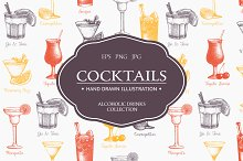 Vintage alcoholic drinks collection