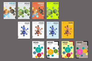 Design template abstract hexagonal