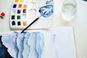 watercolors set