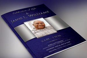 Dignity Funeral Program Photoshop