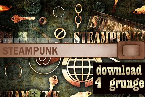 Mechanical steampunk grunge print