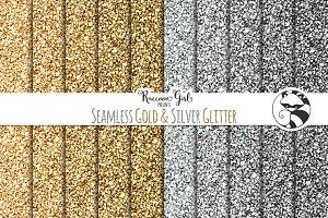 Seamless Gold & Silver Glitter