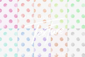 Digital watercolor dot pattern paper