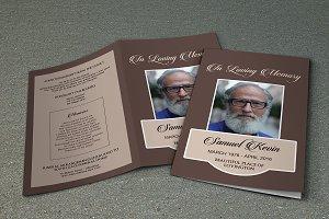 Funeral Program Template-V457