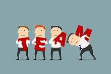 Teamwork or business team idea