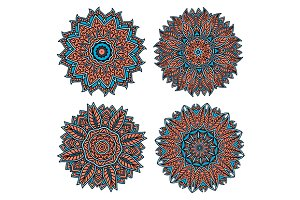 Decorative circular patterns