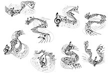 Art and music symbols