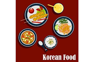 Korean cuisine food and beverages