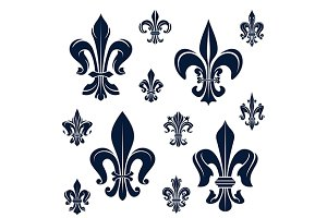 French royal fleur-de-lis flowers