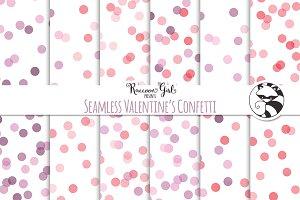 Seamless Valentines Confetti
