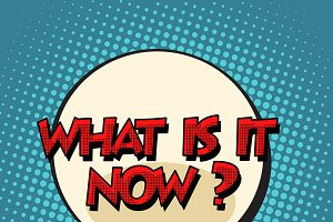 what is it now retro comic bubble