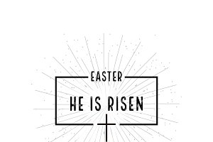 Easter He is risen symbol
