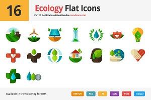 16 Ecology Flat Icons
