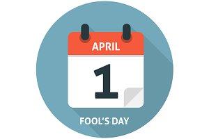 Calendar flat icon April 1