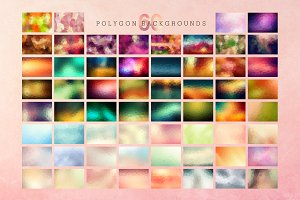 [60% OFF] 60 Polygon Textures (EPS)
