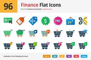 96 Finance Flat Icons