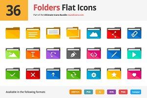 36 Folders Flat Icons
