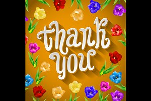 Vector Thank you script greeting