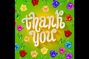 Thank you!  flowers card