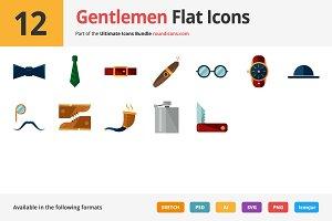12 Gentlemen Flat Icons