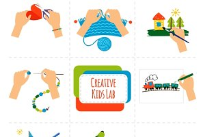 Creative kids hands