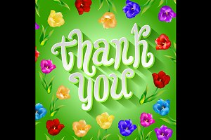 Thank you! Bright cartoon card