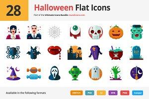 28 Halloween Flat Icons
