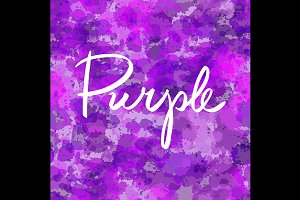 purple watercolor seamless pattern