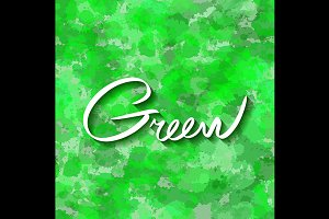 Seamless green watercolor background