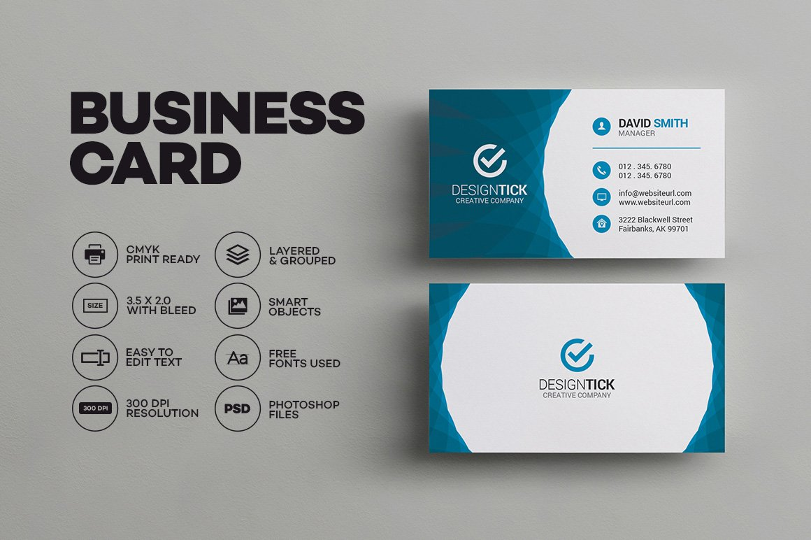 modern business card template business card templates creative market - Business Card