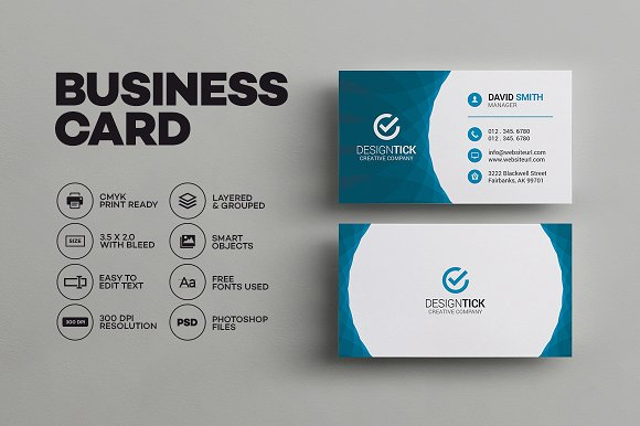 Modern business card template business card templates creative modern business card template business card templates creative market accmission Gallery