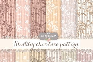 Lace nude shabby chic pattern