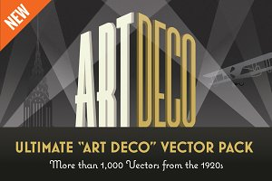 "Ultimate ""Art Deco"" Vector Pack"