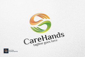 Care Hands - Logo Template