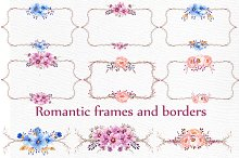 Watercolor frames and borders