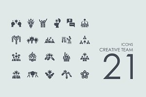 21 Creative Team icons