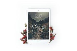 Floral iPad Mini Mockup