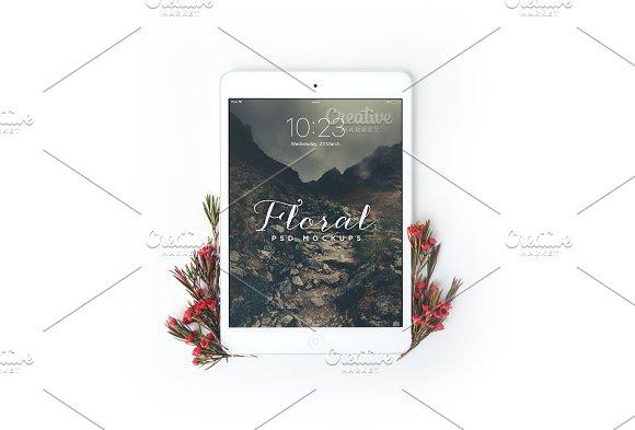 Download Floral iPad Mini Mockup