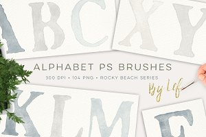 Photoshop Alphabet Brushes