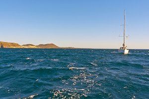 Sailing near the Canary Islands