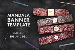 Mandala banner template 01