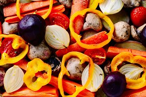 baked vegetables from the oven