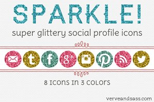 Sparkly Social Profile Icons