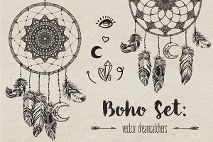 Boho Set: Dreamcatchers