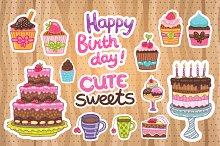 Happy Birthday cute sweets