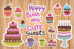 Happy Birthday cute sweets