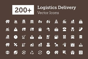 200+ Logistics Delivery Icons