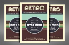 Retro Music Flyer Template