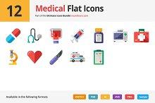 12 Medical Flat Icons