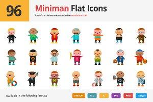 96 Miniman Flat Icons